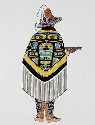 Native Drawing - Haida Native American, 1900 by Granger