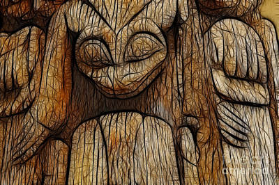 Queen Charlotte Islands Photograph - Haida Totem by Bob Christopher