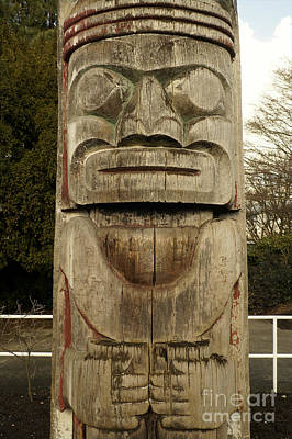 Photograph - Haida Totem Pole Vancouver by John  Mitchell