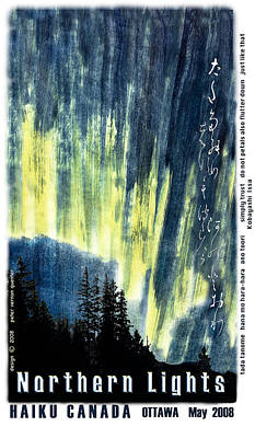 Art Print featuring the photograph Haiga Poster Haiku Canada Conference  by Peter v Quenter