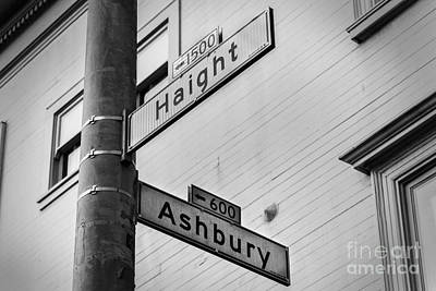 Haight And Ashbury Art Print by Jerry Fornarotto