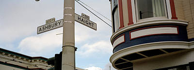 Intersection Photograph - Haight Ashbury District San Francisco Ca by Panoramic Images
