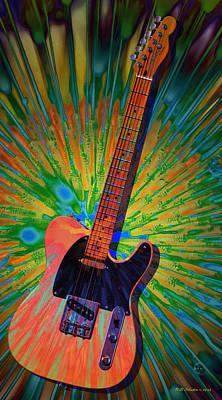 Led Zeppelin Digital Art - Haight Ashbury Tele by WB Johnston