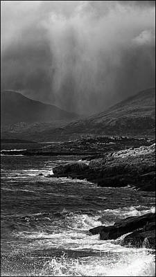 Photograph - Hail Storm Approaching Luskentyre by George Hodlin