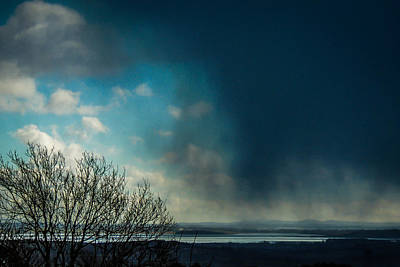 Photograph - Hail Storm Obscures Ireland's Blue Sky by James Truett