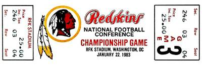 Photograph - Hail To The Redskins by Benjamin Yeager