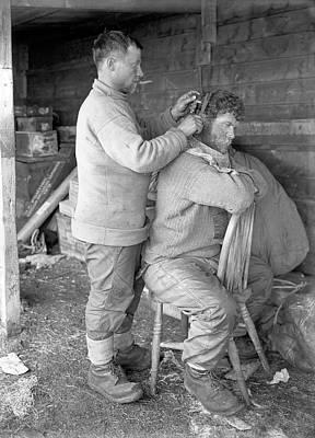 Hair Cut In The Antarctic Art Print by Scott Polar Research Institute