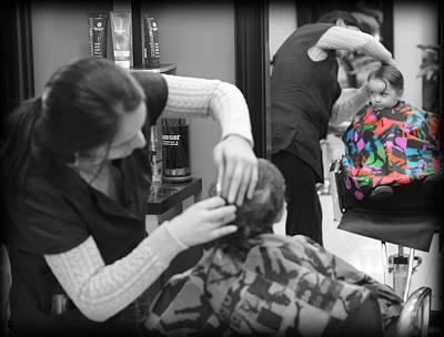 Photograph - Hair Dresser - The First Cut by Lee Dos Santos