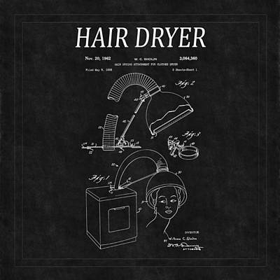 Photograph - Hair Dryer Patent 4 by Andrew Fare