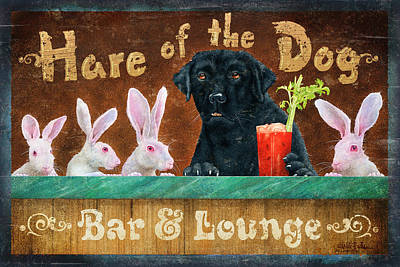 Hair Of The Dog Art Print by JQ Licensing