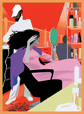 Mixed Media - Hair Salon by Clifford Faust