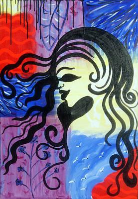 Hair Silhouette Art Print by Lorinda Fore