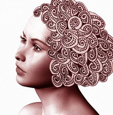 Digital Art - Hair Tangles by Nancy Pauling