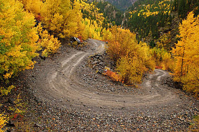 Photograph - Hairpin Curve In Autumn by Daniel Woodrum