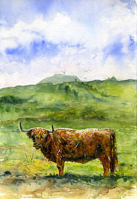 Hairy Coo 1 Scotland Original by John D Benson