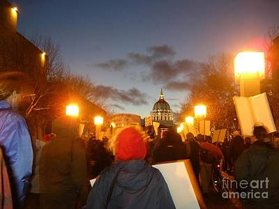 Art Print featuring the photograph Haiti Protest by Cynthia Marcopulos