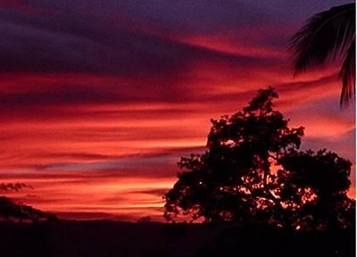 Haiti - Red Sunset Art Print by Marianne Miles