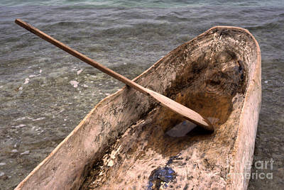 Hand Crafted Photograph - Haitian Dugout Canoe by Anna Lisa Yoder