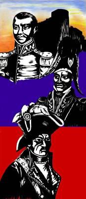Digital Art - Haitian Heros by Pierre Chamblin