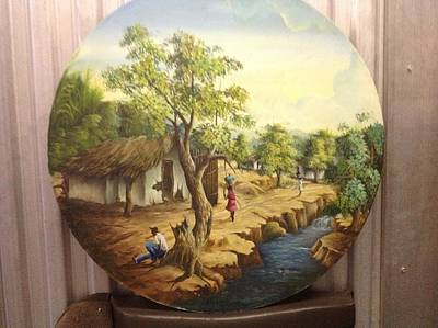 Haitian Landscape Art Print by Haitian artist