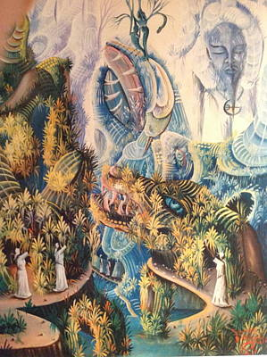 Haitian Mystical Mandscape Art Print by Dimanche