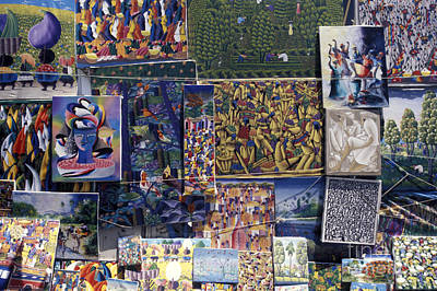 Photograph - Haitian Paintings by John  Mitchell