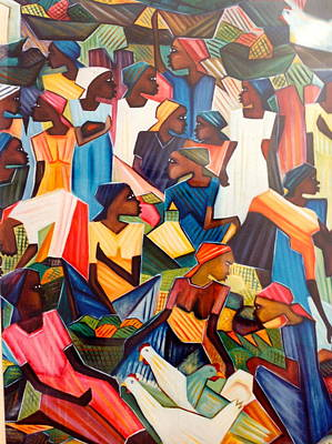 Painting - Haitian Women. by Haitian artist