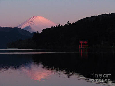 Hakone Waters Fuji  Art Print by John Swartz