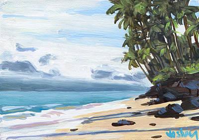 Haleiwa Painting - Halama Street Beach by Stacy Vosberg