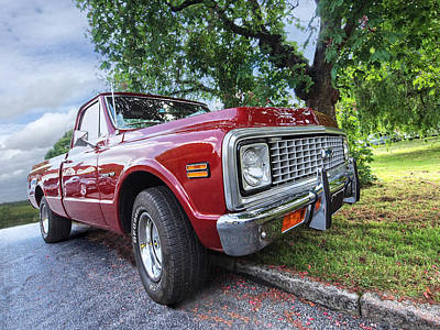 Chevy C10 Photograph - Halcyon Days - 1971 Chevy Pickup by Gill Billington