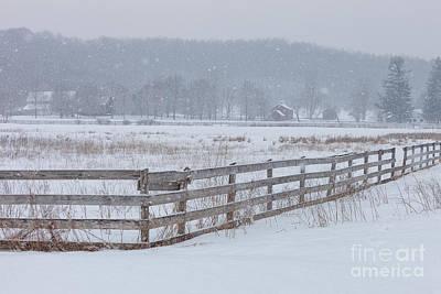 Hale Farm At Winter Art Print by Joshua Clark