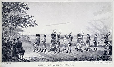 War Of Independance Photograph - Hale On His Way To Execution by British Library