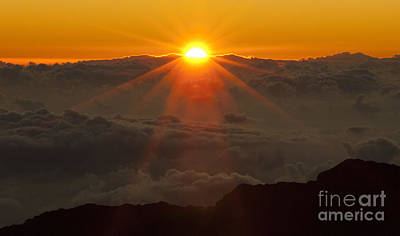 Photograph - Haleakala Hawaii Sunrise 1  by Bob Christopher