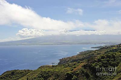 Haleakala Volcano And Coastline Art Print by Sami Sarkis