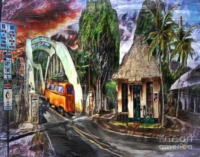Iwa Digital Art - Hale'iwa First Hawaiian Bank by Patrick J Gallagher