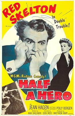 Skelton Photograph - Half A Hero, Us Poster, Red Skelton by Everett
