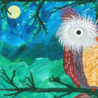 Painting - Half-a-hoot 01 by MiMi  Stirn
