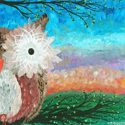Painting - Half-a-hoot 02 by MiMi  Stirn