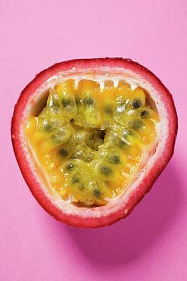 Half A Purple Granadilla (passion Fruit) Art Print