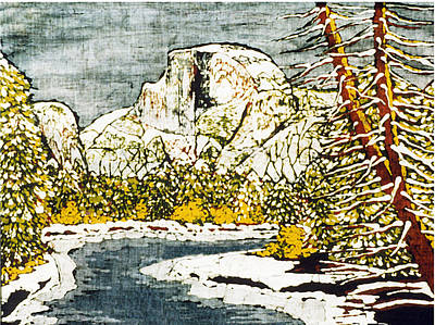 Santa Cruz Batik Artists Tapestry - Textile - Half Dome by Alexandra  Sanders
