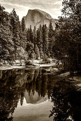 Photograph - Half Dome And Merced River by Wes and Dotty Weber