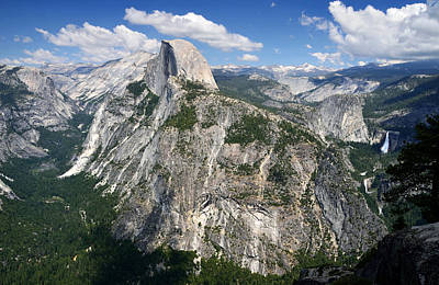 Photograph - Half Dome And Yosemite Valley In Yosemite National Park by RicardMN Photography