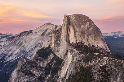 Photograph - Half Dome At Twilight 1 by Lee Kirchhevel