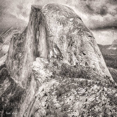 Photograph - Half Dome  Bw by Don Vine