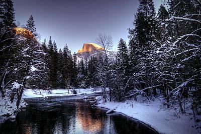 Photograph - Half Dome Final Light by Robert Melvin