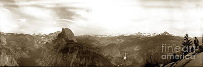 Photograph - Half Dome From Glacier Point Yosemite Valley  California Circa 1910 by California Views Mr Pat Hathaway Archives
