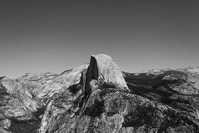 Black And White Photograph - Half Dome In August by William Towner