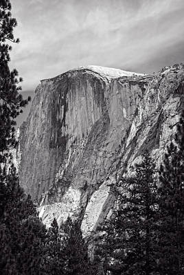 Photograph - Half Dome In Black And White by John M Bailey