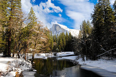 Half Dome In Winter Art Print