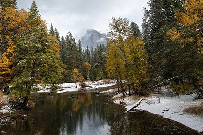 Half Dome Photograph - Half Dome In Yosemite In Autumn by Natural Focal Point Photography